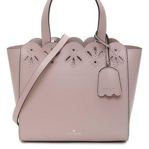 Kate Spade mini Mina blush pink purse tote bag